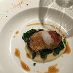 リストランテ サクラ - 牡蠣と生ハムはいってます