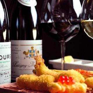 ソムリエが厳選したワイン多数御用意しております。