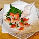 広起 - ヨナキの刺身(広島限定の甘くてコリコリする貝です。)