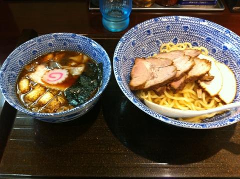 中華蕎麦 金魚 - チャーシューワンタンつけ蕎麦 1,050円