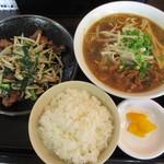 らーめん2の2 - 料理写真:週替わりランチ 750円 今週はニラレバ