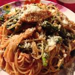 48087287 - 日替りパスタから鶏肉と菜の花のトマトソース