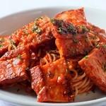 ラ・ベルデ - 【Pasta】厚切りベーコンメガ盛り アラビアータ