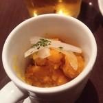 48090021 - お通しのかぼちゃのサラダ(食べかけ)