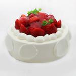 菓子工房みわあおに五月台4丁目 - デコレーションケーキイチゴ盛(予約可)