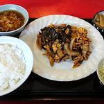 聚幸園 - 聚幸園 @板橋本町 火曜日の定食 豚肉きくらげ炒め 600円(税込)