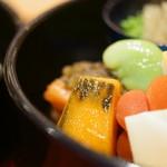 草津亭 - 口取(くちどり)、南瓜(かぼちや)