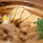 草津亭 - 牛鍋(ぎうなべ)、豆腐(とうふ)