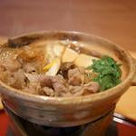 草津亭 - 牛鍋(ぎうなべ)