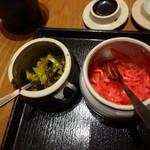 神屋流 博多道場 - 定番の高菜と紅ショウガ(16-03)