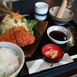 道の駅 ようか但馬蔵 - 1602_但馬蔵_八鹿豚とんかつ定食@1,290円