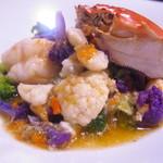 48103343 - 上海蟹とシラサエビとブロッコリーの炒め物