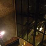 Cafe倫敦館 - 3F吹き抜けから下のフロアを