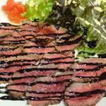 イタリアン居酒屋 Tino - 牛肉のタリアータ(バルサミコソース)(2016年2月来店)