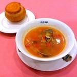 48108791 - マラガ風エビ入りスープ(野菜がたっぷり入っていると言われて頼んだが、、、野菜たっぷり????)