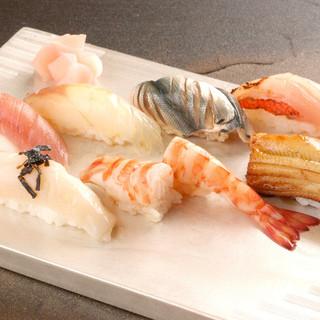 銀座の隠れ家で食べる寿司ランチ