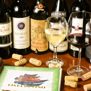 """80種類を超える豊富な種類の""""イタリアワイン"""""""