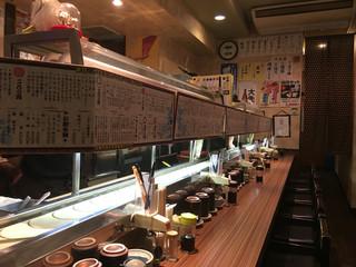 回転寿司 ぱさーる - カウンター