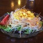茶房 ともしび PLUS - ハンバーグのサラダ