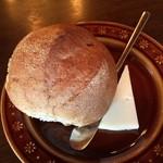 茶房 ともしび PLUS - 全粒粉の自家製のパンも柔らかく旨かった らしいです