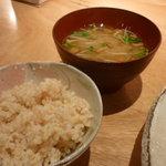 SOHSOH - 玄米ご飯、本日のお汁