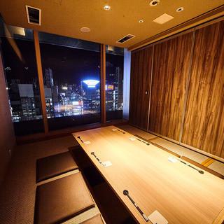 夜景を望む完全個室◆多彩なニーズにご対応
