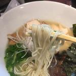 丸鶏 白湯ラーメン 花島商店 - 鶏白湯ラーメン元味 カタ麺  750円