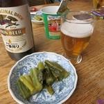 山のホテル大瀧 - 2014 ビールとお通し