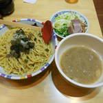 七志 - ...「ゆずつけ麺(750円)」+「倍盛(200円)」、炭水化物が。。