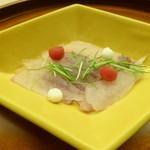 懐石料理 桝田 - カワハギのお造り