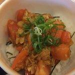 加西サービスエリア(下り線)レストラン - 『辛からトマト丼』♪♪地元主婦が考えたアイデア料理♪