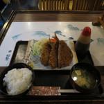 割烹 船勢 - アジフライ定食