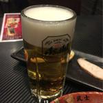 古武士 - 【飲み放題30分】(300円税込)の生ビール。アサヒスーパードライです。