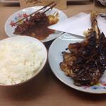 48138007 - 骨付き焼き味噌煮込み定食、1050円!!