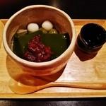 和夢茶Cafe - 『抹茶こんにゃくゼリー』(500円)!宇治抹茶、こんにゃく粉を使用して作ったゼリー~♪(^o^)丿