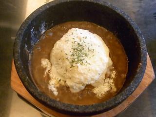 彩鶏だいにんぐ 氣DORI - 石焼チーズカレー ランチ限定価格¥580(税込)