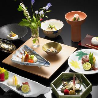接待、会食、宴会、デートに、【秋の葉四季コース】12品