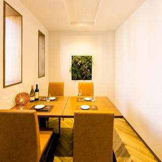 個室あり◎清潔感溢れる店内で楽しむオーガニック料理