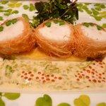 モナリザ 恵比寿店 - 05 魚料理(パリっと焼いたチョウザメのロースト 磯の香りと共に)
