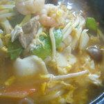 廣東 - スープかけごはん 豆板醤の辛味を効かせて