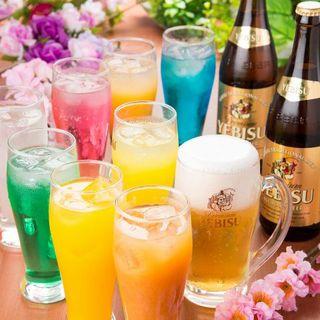 【全コース飲み放題付】ヱビス生ビール含む約200種類☆