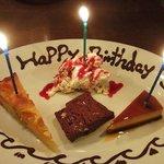 48163625 - お誕生日のデザート