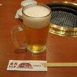 焼肉 山河 - ・「生ビール アサヒスーパードライ(\399)」