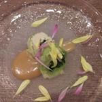 Kitchen kampo's - 前菜(春キャベツの豆腐ロール、ごまソース)
