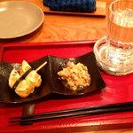 九州料理 球磨家 - お通しと奈良萬