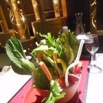 金蘭荘 花山 - ~彩野菜のバーニャカウダ~ 特製自家製ソースにて 2014.10