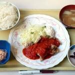 エッセン - 日替りBランチ(豚竜田のピリ辛ソース)650円