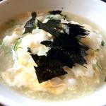 ふぐ料理 与太呂 - 味付け海苔をかけるってのも珍しいですが大阪では常識らしい!!??