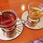 Egg's country - ドリンク写真:リンゴ蜂蜜とメープル