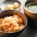 名物鶏めし〜生姜スープ、古漬け付〜